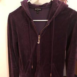 Velvet dark purple Juicy Couture track suit